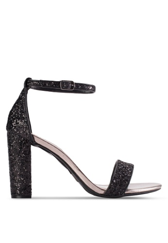 Dorothy Perkins black Black 'Carbon' Glitter Sandals DO816SH07YGUMY_1