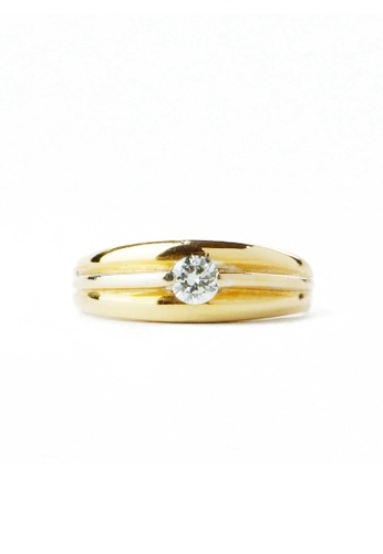 CEBUANA LHUILLIER JEWELRY gold 18 Karat Yellow Gold Lady Ring With Diamond C9BF0ACFF1DEF2GS_1