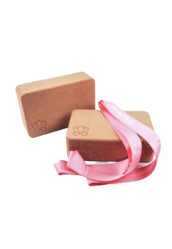 OHMfinity pink OHMfinity Yoga Bundle 3: Blocks & Strap - Blush Pink F3FC3SEB123F66GS_1