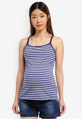 Bove by Spring Maternity blue Knitted Corey Nursing Camisole Navy Str 78E2AAA18411C0GS_1