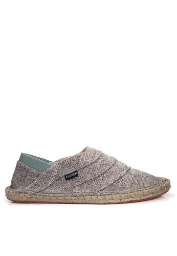 Twenty Eight Shoes grey VANSA Fashion Linen Slip Ons VSM-C1879 1DFCASHC65AF99GS_1