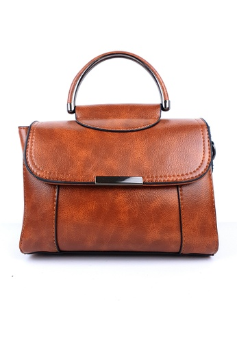 BELLE LIZ brown Chic PU Crossbody Pretty Bag Brown DAFFBACD5A0476GS_1