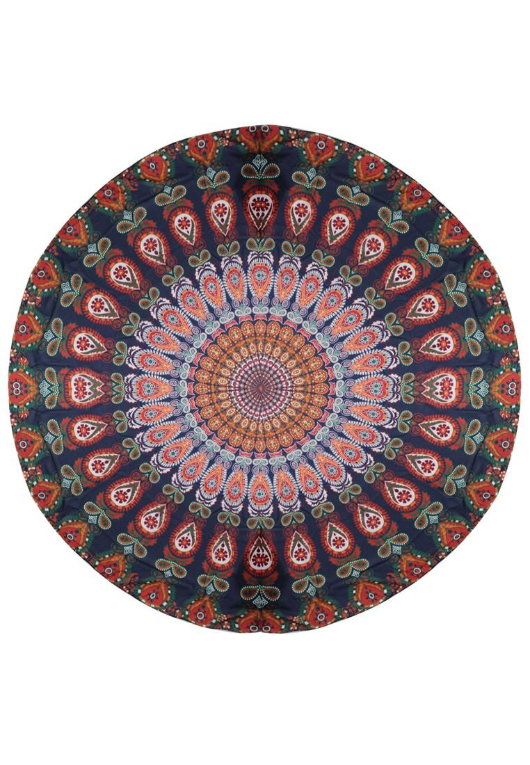 Vibrant Aztec Round Beach Mat