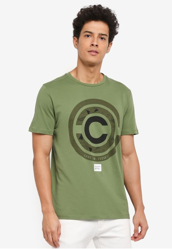 Jack & Jones green Mate Tee Crewneck 0F8ABAAFA67753GS_1