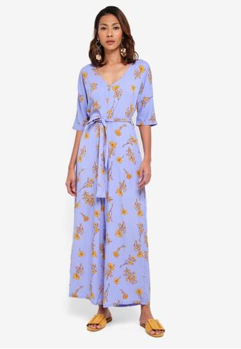 Glamorous blue Floral Jumpsuit 6E32DAAC77D6C2GS_1