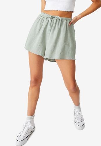 Cotton On green Cali Pull On Shorts 17B3FAAD6E7608GS_1