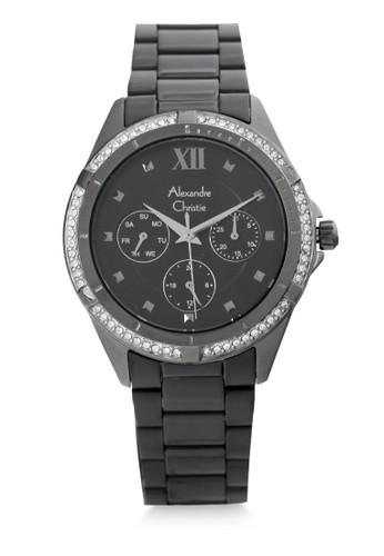 Alexandre Christie black Alexandre Christie Jam Tangan Wanita - Black Grey - Stainless Steel - 2644 BFBEPBA 68AFAAC23A7DA3GS_1