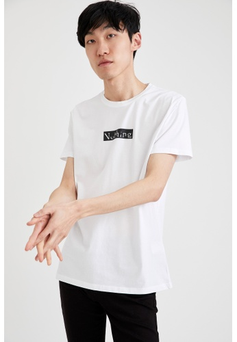 DeFacto white Man Knitted T-Shirt 31CE4AAF2793D5GS_1