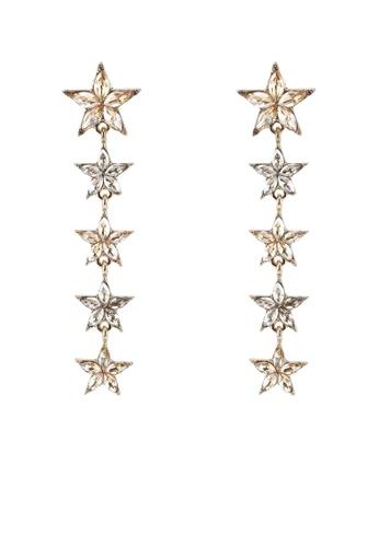 Red's Revenge gold Star Studded Gemstone Statement Earrings B1117AC08EB234GS_1