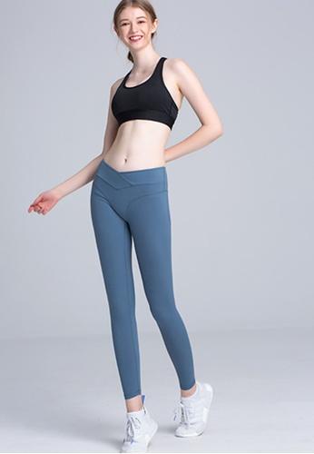 Trendyshop blue High-Elastic Fitness Leggings E68BAUSBC0BC91GS_1
