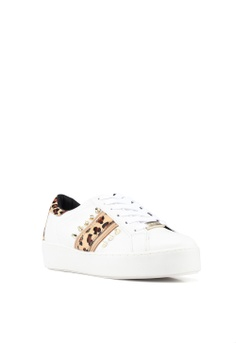 283a830165bee 14% OFF River Island Rainbow Leopard Stripe Stud Lace Up Sneakers Php  3