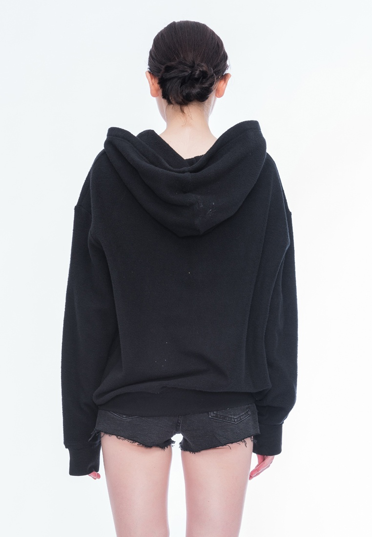 Kennedy Zip Black Alpha Oversize Style BF Hoody up aarEAnqwC