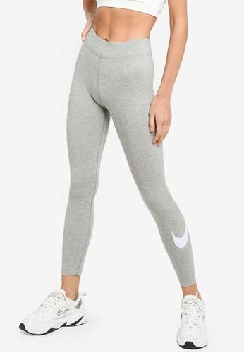 Nike grey Essential Swoosh Mid-Rise Leggings 8E065AAC598A06GS_1