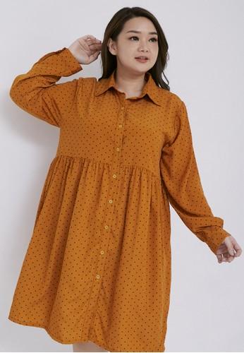 Xtramiles orange xtramiles audrey dress mustard 7B533AAAD26BFFGS_1
