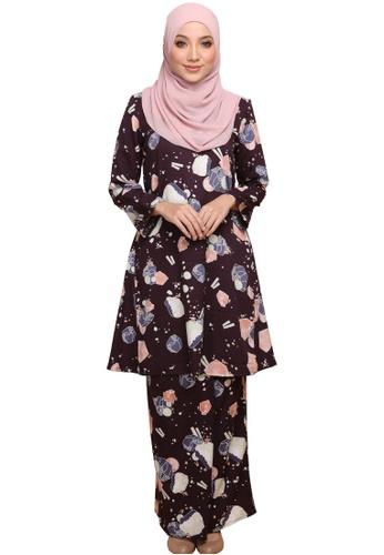 ANNIS EXCLUSIVE purple Kurung Pahang Mahsuri (AE060PHM Dark Purple) 1CCD0AAA8318D4GS_1
