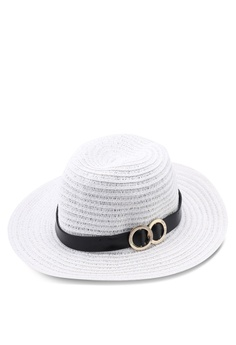 e95867f2eef29 River Island white Paper Braid Fedora Dr Trim Hat BD917AC4027F05GS 1