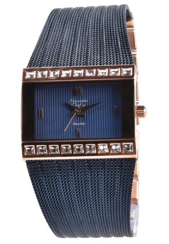 Alexandre Christie navy Alexandre Christie - Jam Tangan Wanita - Rosegold - Blue Stainless Steel - 2561LHBURBU B11A5AC4FD8A49GS_1