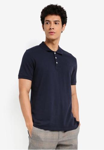 MANGO Man 藍色 短袖修身POLO衫 03E52AAB5CC169GS_1