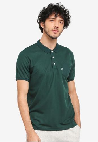 JAXON green Patch Pocket Polo Shirt 2D466AA15AC80BGS_1