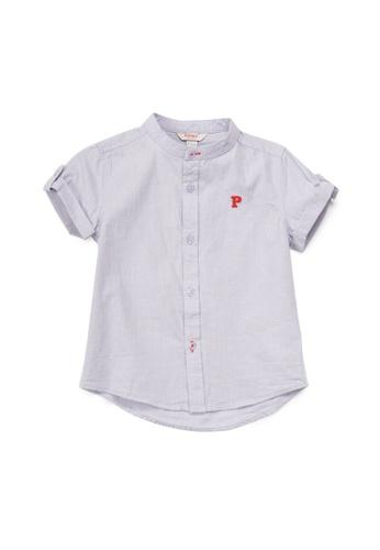 PONEY purple Poney Connor Purple Checkered Cotton Poplin Short Sleeve Shirt C08F2KA91B0AD6GS_1