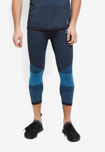 Odlo blue 3/4 Ceramicool Motion Pants DDBE6AAB511827GS_1