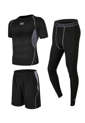 Sunnydaysweety grey Short Sleeves Tops, Tights and Shorts Set A081026GY 232EAAA7616661GS_1