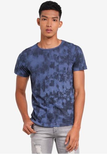 Indicode Jeans 藍色 短袖印花T恤 4B834AA18B3DD4GS_1