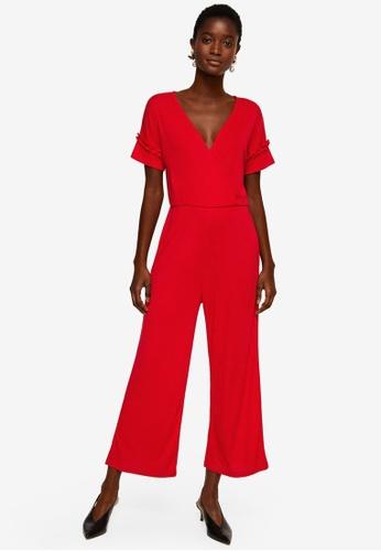 Mango red Wrap Long Jumpsuit 6D9D6AAB51D21AGS_1