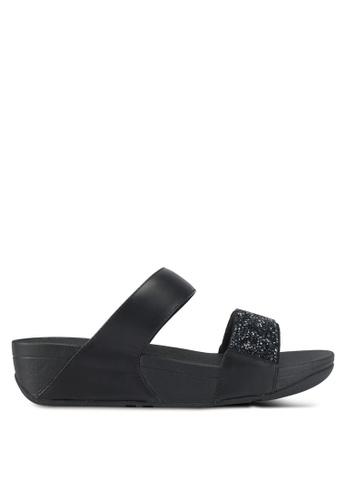 Fitflop black Sparklie Roxy Slide Sandals 3F3F8SHF3F27EFGS_1