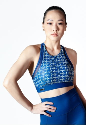 YeoMama Batik blue and gold Whirlpool Sport Bra 8A312AA5D2BCCBGS_1