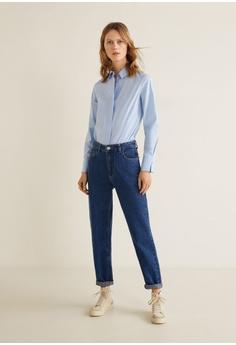 c8f5027edd41c 50% OFF Mango Buttoned Cotton Shirt RM 98.90 NOW RM 49.90 Sizes XS S M L XL