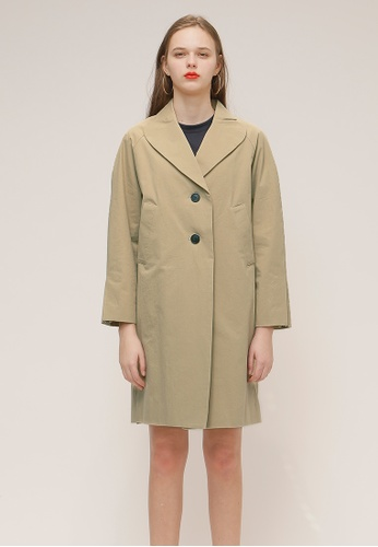 OUTSTANDING ORDINARY beige C-SAILOR TRENCH COAT OU203AA97YJISG_1