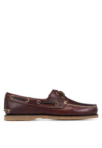 Timberland brown Timberland Men's 2-Eye Classic Boat Shoes TI845SH76NSDSG_1