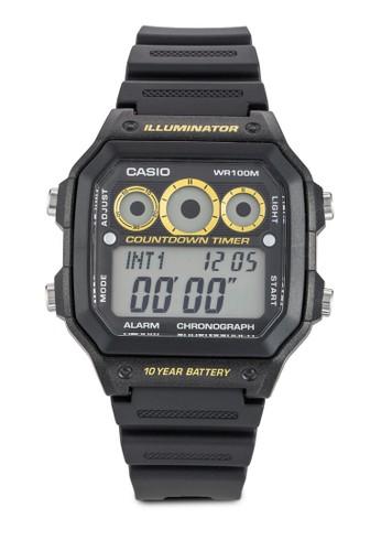 雙色方框esprit 香港電子運動手錶, 錶類, 飾品配件