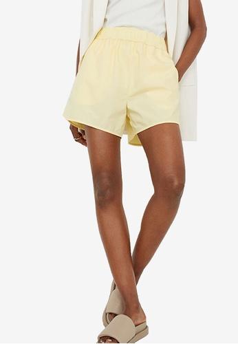 H&M yellow Sporty Shorts 87C65AA4677C2CGS_1