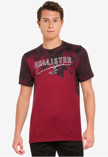 Hollister red Large Scale Technique T-Shirt F476BAADE93DE9GS_1