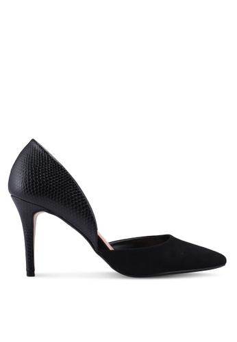 Dorothy Perkins black Black Pu Etta Colourblock Heels A2453SH18174ABGS_1