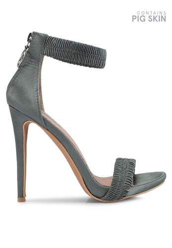 LOST INK green Becky Ruched Stiletto Sandals 0286ESHE0BADBAGS_1