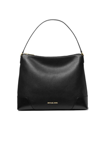 Michael Kors black MICHAEL KORS Crosby Large Pebbled Leather Shoulder Bag Black 38t0ccbl3l 14346ACA8259FDGS_1
