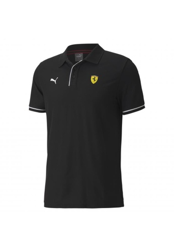 puma black Scuderia Ferrari Race Men's Polo Shirt 22529AA9676E42GS_1