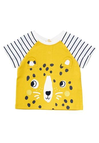 Du Pareil Au Même (DPAM) yellow Leopard Print T-Shirt 402ABKA9AF198EGS_1