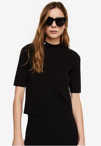Mango black Side Snap Sweater 2F176AAD27E0E3GS_1