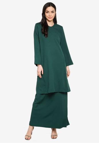 Butik Sireh Pinang green Baju Kurung Pahang Salimah 30CC4AA34BA208GS_1