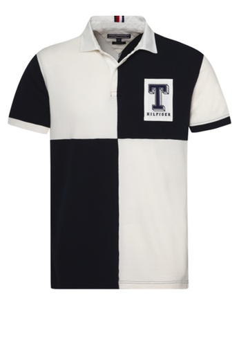cb70d8b9f Shop Tommy Hilfiger Colorblock Rugby Polo Shirt Online on ZALORA Philippines