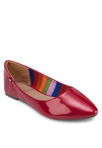 經典esprit outlet 桃園漆面尖頭平底鞋, 女鞋, 鞋