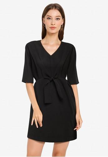 ZALORA WORK black Tie Detail Dress 78D3DAAF3C9A50GS_1