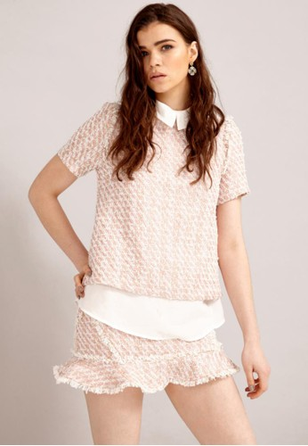 經典毛呢混色兩件式襯衫, 服飾, esprit mongkok襯衫