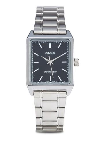 Casio MTP-V007D-1EUDF 不esprit hong kong銹鋼方錶, 錶類, 不銹鋼錶帶