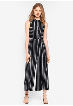 cb1898cc0fe 60% OFF WAREHOUSE Stripe Cutabout Jumpsuit S  149.00 NOW S  59.90 Sizes 6