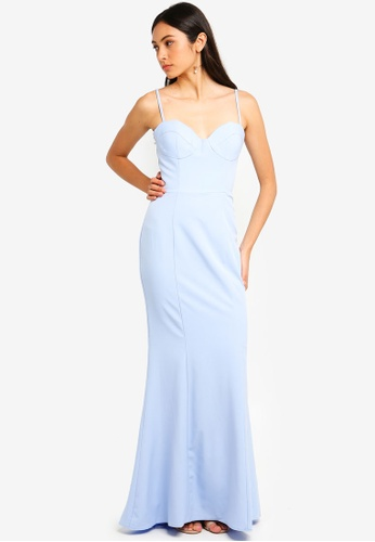 JARLO LONDON blue Olive Evening Dress 5869DAA7AA6682GS_1